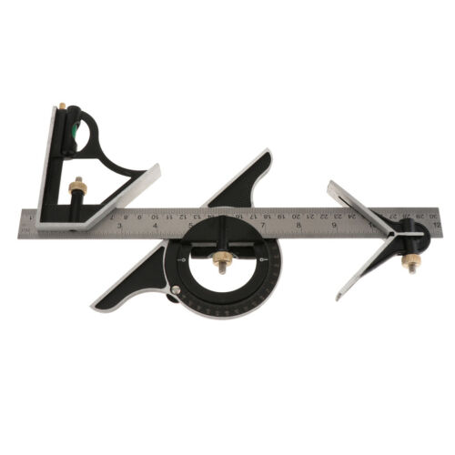 Protractor Right Angle Finder Spirit Level Set Measuring Tools 4