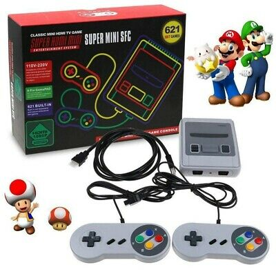 621 Giochi in 1 Classic Mini NES Game Console Retro TV HDMI+2 Controller Gamepad 2