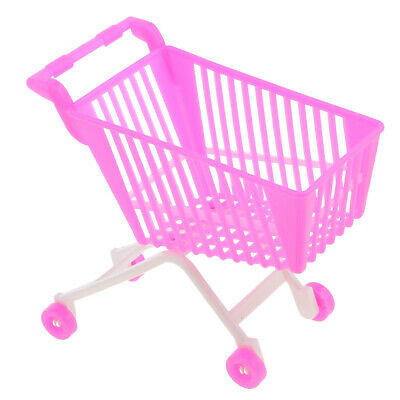 5pc Pink Plastic Supermarket Cart Trolley Set for Doll Kelly Shopping 4