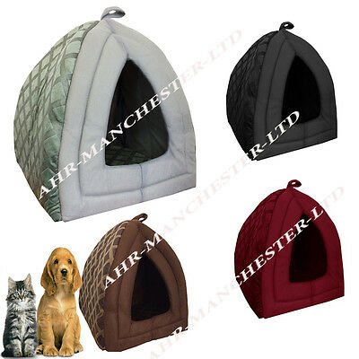 Dog Cat Warm Fleece Winter Bed Igloo Animal House Soft Luxury Basket For Pets 2