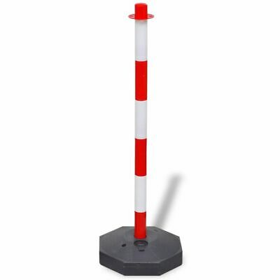 vidaXL Chain Post Set 10m Plastic Traffic Guard Safety Warning Sign Barrier 2