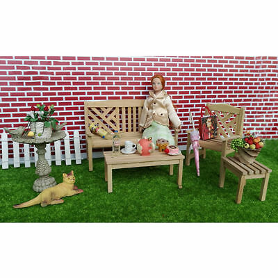 1/12 Dolls House Miniature Bedroom Kitchen Living Room Furniture Set Bed Cabinet 2