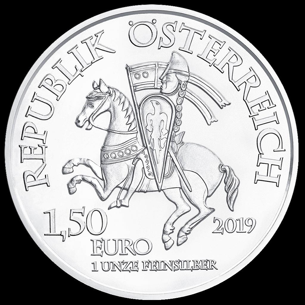 Österreich - 1,5 Euro 2019 - Leopold V - 825 Jahre Münze Wien - 1 Oz. Silber ST