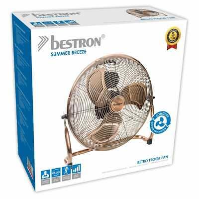 Bestron Ventilateur Turbo 45 cm Cuivre Ventilateur Électrique Refroidissement 9