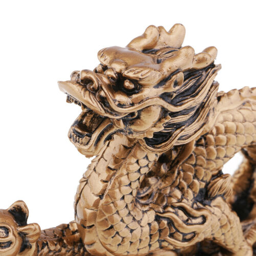 1 Piece Chinese Feng Shui Dragon Bronze Figurine Statue Luck & Success Gifts 4