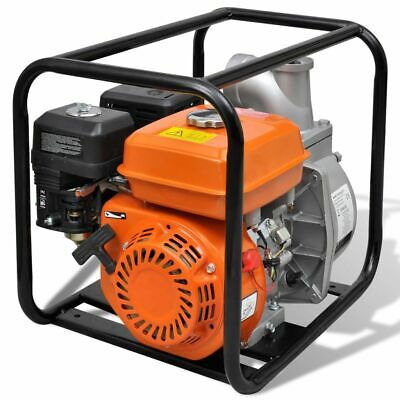 vidaXL Benzin Wasserpumpe 6,5PS 80mm Motorpumpe Gartenpumpe Kreiselpumpe