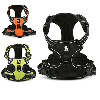 No-pull Dog Pet Harness Reflective Outdoor Adventure Pet Vest Padded Handle 3M 5