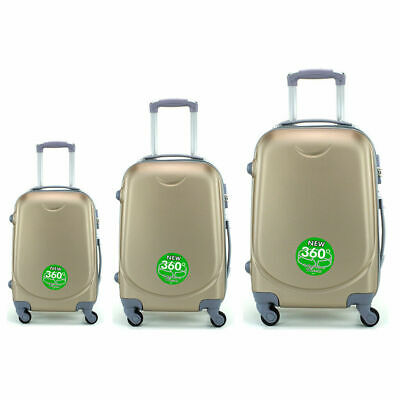 Juego de 3 maletas rigidas lisas de 4 ruedas giratoria 360 maleta equipaje viaje 10