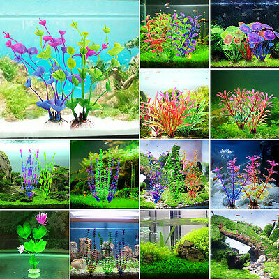 New Grass Aquarium Decoration Water Weeds Ornament Plastic Plant Fish Tank Decor 4