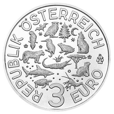 Österreich - 3 Euro - Schildkröte - Tier-Taler 2019 Handgehoben 3