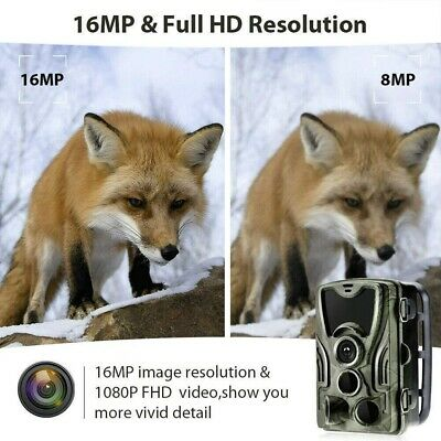 1080P Caméra de Chasse Caméra de Surveillance IR HD Nuit Vision GSM/MMS/SMTP/SMS 8