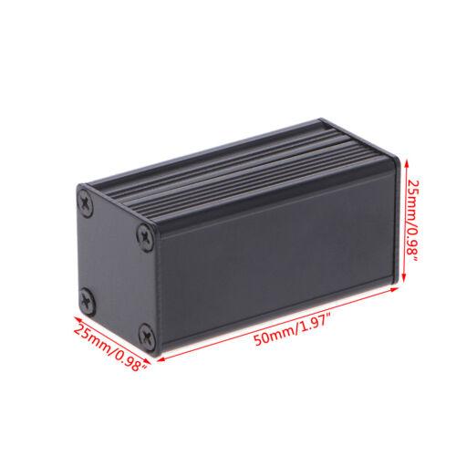 DIY Waterproof Electronic Project Instrument Case Box Connector Aluminum Black 6