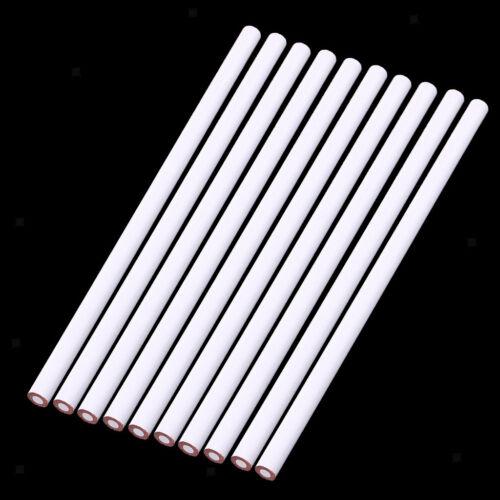 10 Pcs China Marker Wax Pencil Non Toxic Glass Metal Wood Fabric white 9