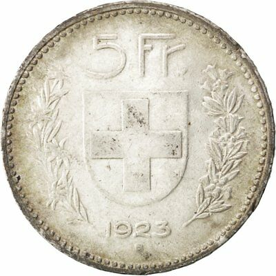 [#42384] SWITZERLAND, 5 Francs, 1923, Bern, KM #37, AU(55-58), Silver, 37, 24.95 2