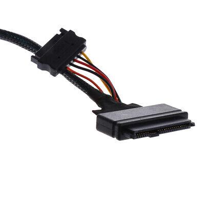 to HD Mini-SAS SFF-8639 Prettyia 2Pcs 1m Copper core U.2 SFF-8643 Cable 12Gb//s