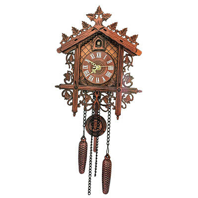 Decorative Wood Wooden Cuckoo Wall Clock with Pendulum for Home Decoration Gifts 10