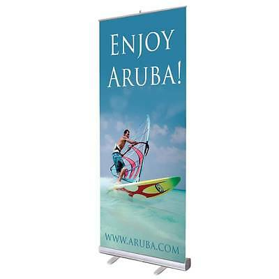 "NEW Retractable Pull Up Banner Stand 33"" WITH PRINTING"