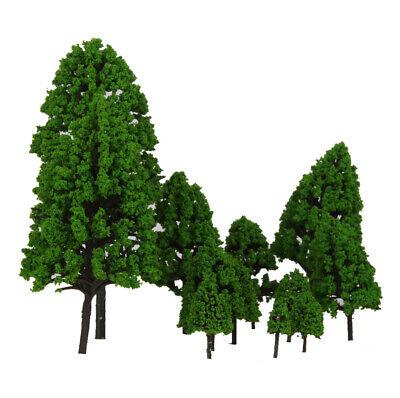 12pcs Modellbäume Modelleisenbahn Landschaftsbau Baum Modell Pagodenbäume