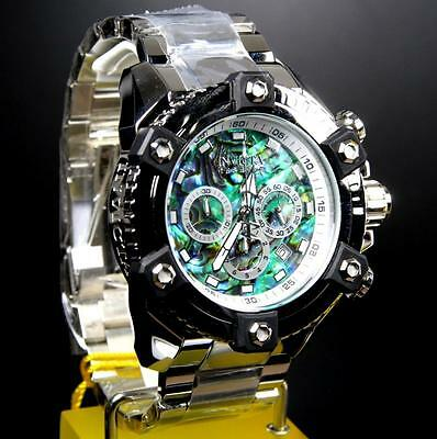 Invicta Reserve Grand Arsenal Octane Abalone Silver Full Size 63mm Watch New 9