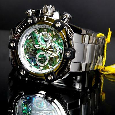 Invicta Reserve Grand Arsenal Octane Abalone Silver Full Size 63mm Watch New 6