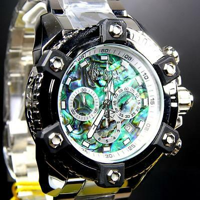 Invicta Reserve Grand Arsenal Octane Abalone Silver Full Size 63mm Watch New 8