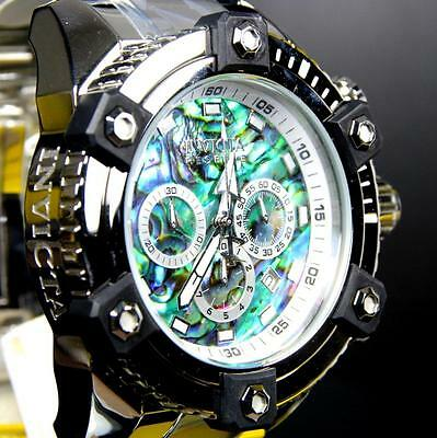 Invicta Reserve Grand Arsenal Octane Abalone Silver Full Size 63mm Watch New 10