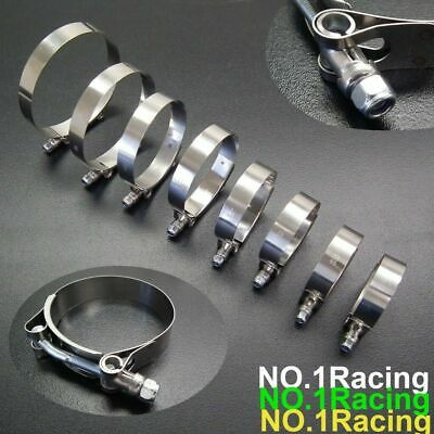 4X 2.5inch 70mm 78mm Stainless Steel T-Bolt Clamps Turbo Intake Intercooler Clamp