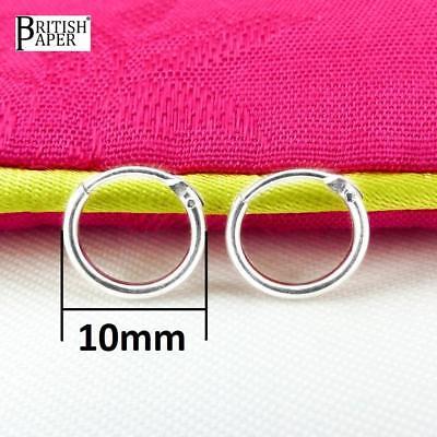 Girls 925 Sterling Silver 8mm -20mm Small Tiny Hinged Hoop Sleeper Earrings Pair 3