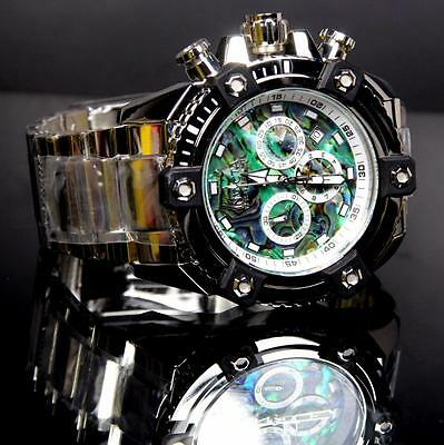Invicta Reserve Grand Arsenal Octane Abalone Silver Full Size 63mm Watch New 3