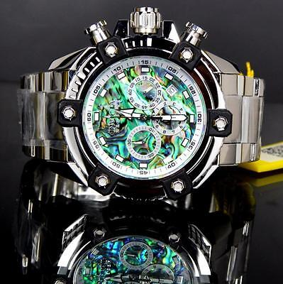 Invicta Reserve Grand Arsenal Octane Abalone Silver Full Size 63mm Watch New 2
