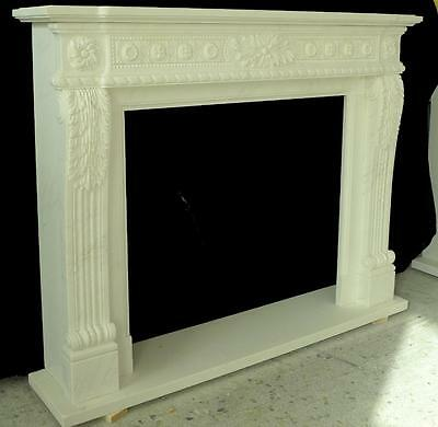 Beautiful Hand Carved Marble European Design Marble Figural Fireplace Mantel Z4 5