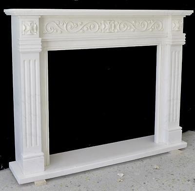 Beautiful Hand Carved Marble European Design Marble Figural Fireplace Mantel Z5 2
