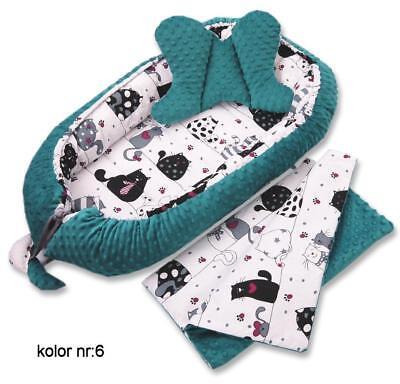 Babynest Baby nest Schlafnest für Babys Minky Lafel