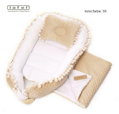 Elegant, exclusive baby nest, cocoon,decorated with decorative gipiure Lafel XL 3