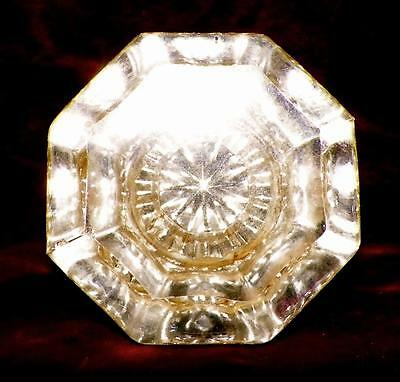 1 Antique Mercury Glass Door Knob Hexagon Victorian Architectural Salvage #8 2