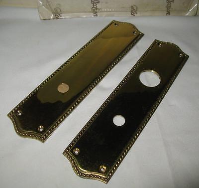 Vintage Front and Back Brass Door Plate Set 4