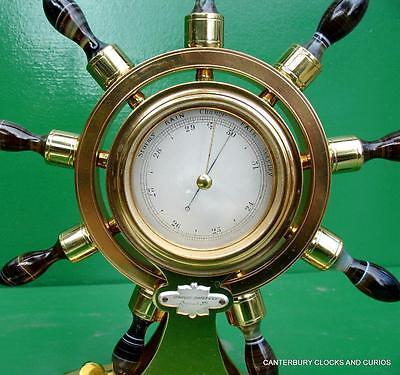 Howell James & Co Antique Ormolu Maritime Marine Navel Agate Clock Barometer 4