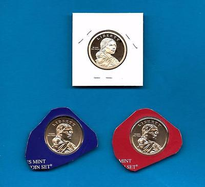 2015 P D and S BU and Proof Sacagawea Native American Dollars-PD from Mint Sets 2