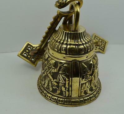 Stunning large French country house solid brass period door bell 2 kilos loud ?? 3