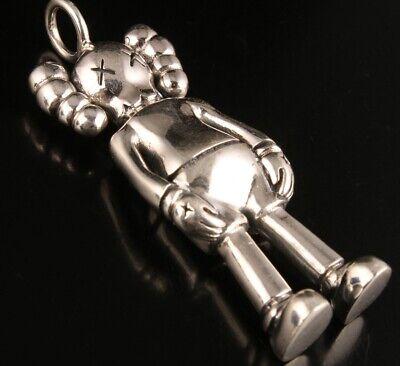 Precious 925 Silver Genuine Silver Solid Silver Pendant Statue Robot Mascot Gift 7