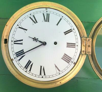 Newhaven Usa Antique American 8 Day Marine Ships Mariner Clock Serviced Gwo 3