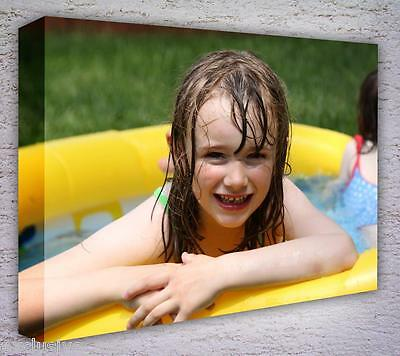 CANVAS PRINTS YOUR PHOTO ON A3 personalised 16X12IN 18MM DEEP BOX FRAME 2