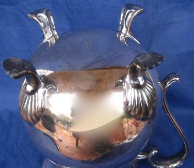 Leonard Water Pitcher Silver Plate Engraved Jamaica Air 1979 Invitational Handle 4