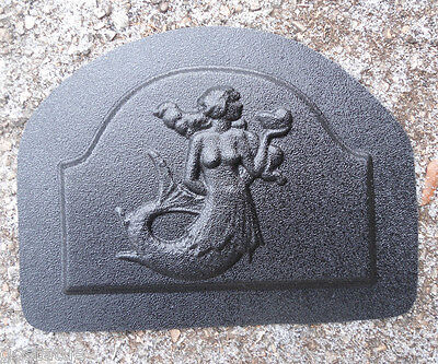 "Mermaid plastic mold plaque mold rapid set cement all mould 7/"" x 5/"" x 1//3/"""