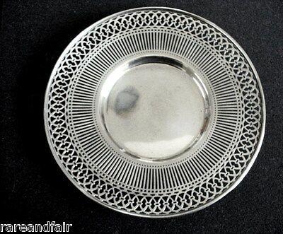 American sterling silver by Watson - pierced rim plate 2