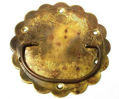 PAIR....Antique Hardware Brass Drawer Pull Trunk Part Chest Handle Salvaged Part 2 • CAD $233.10