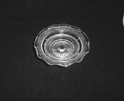 Vintage Glass & Silver Plate Footed Ruffled Edge Nut Dish 2