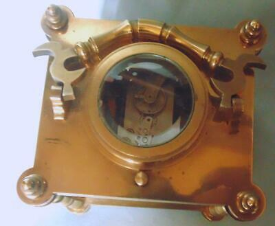 Antique Style French Carriage Clock Repeater Alarm With Erotic Decoration 7