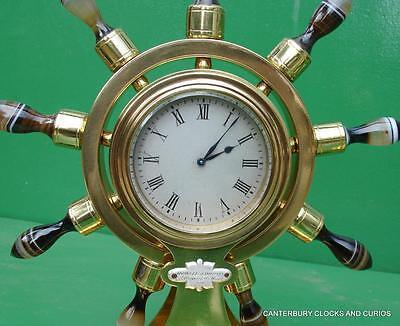 Howell James & Co Antique Ormolu Maritime Marine Navel Agate Clock Barometer 3