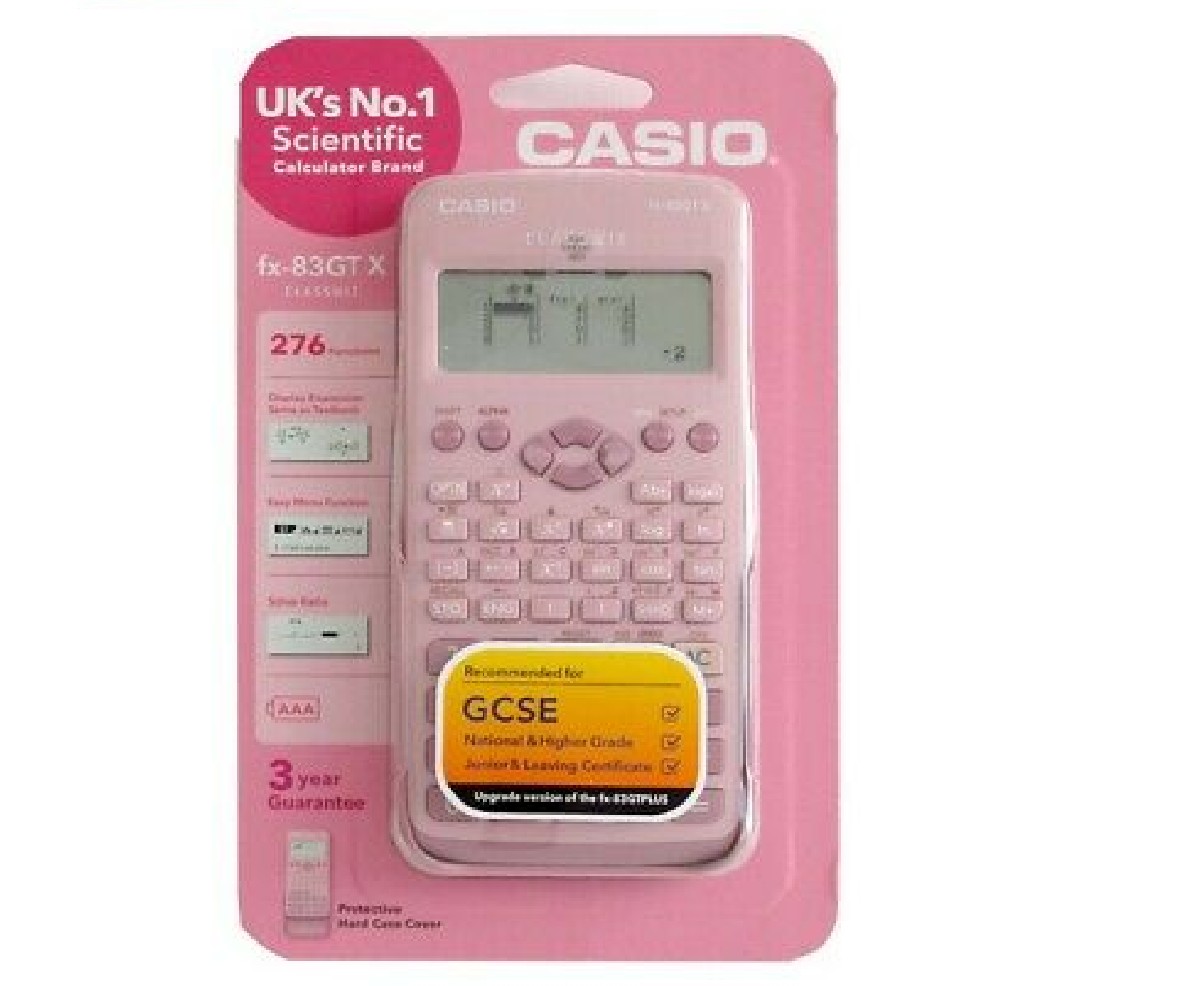 Casio FX83GTX-DP GCSE Scientific Calculator with 276 Functions Pink